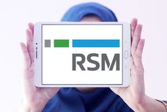 Logotipo da companhia estado-unidense de RSM Fotos de Stock Royalty Free