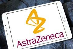 Logotipo da companhia farmacéutica de AstraZeneca foto de stock