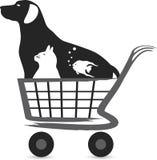 Logotipo da compra do animal de estimação Fotografia de Stock