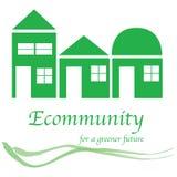 Logotipo da comunidade de Eco ilustração stock