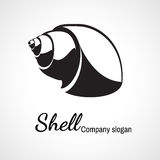 Logotipo da concha do mar Fotografia de Stock