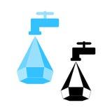 Logotipo da conservação de água Imagens de Stock Royalty Free