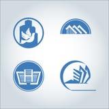 Logotipo da construção Fotografia de Stock