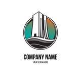 Logotipo da construção civil Imagem de Stock