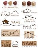 Logotipo da construção da casa ilustração stock