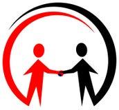 Logotipo da cooperação Foto de Stock Royalty Free