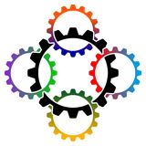 Logotipo da cooperação de Iduatrrial Foto de Stock