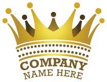 Logotipo da coroa Foto de Stock