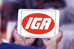 Logotipo da corrente de supermercados de IGA Imagens de Stock