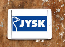 Logotipo da corrente varejo de Jysk Fotografia de Stock Royalty Free