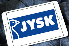 Logotipo da corrente varejo de Jysk Fotos de Stock Royalty Free