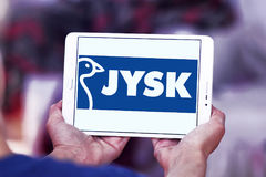 Logotipo da corrente varejo de Jysk Foto de Stock Royalty Free