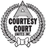 Logotipo da corte da cortesia ilustração do vetor
