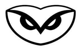 Logotipo da coruja ilustração stock