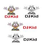 Logotipo da criança do DJ Imagem de Stock Royalty Free
