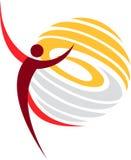 Logotipo da dança ilustração royalty free