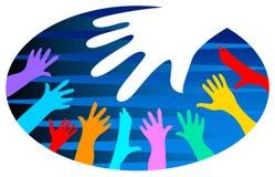 Logotipo da diversidade ilustração do vetor