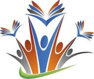 Logotipo da educação dos pares Fotografia de Stock Royalty Free