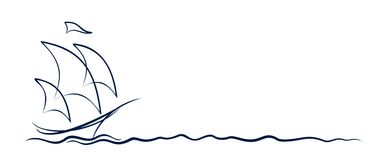 Logotipo da embarcação de navigação Imagens de Stock Royalty Free