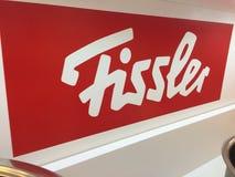 Logotipo da empresa alemão Fissler Fotografia de Stock Royalty Free