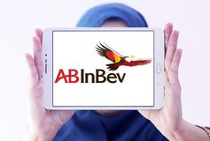 Logotipo da empresa da cerveja do AB InBev Fotografia de Stock