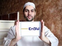Logotipo da empresa das companhias de eletricidade de EnBW foto de stock