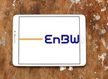 Logotipo da empresa das companhias de eletricidade de EnBW fotografia de stock