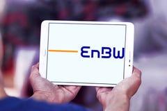 Logotipo da empresa das companhias de eletricidade de EnBW imagens de stock