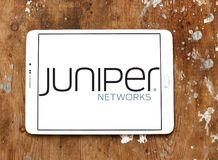 Logotipo da empresa das redes do zimbro Fotografia de Stock