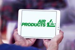 Logotipo da empresa de Air Products & Chemicals imagem de stock