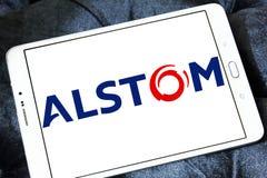Logotipo da empresa de Alstom Imagens de Stock