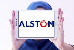Logotipo da empresa de Alstom Foto de Stock Royalty Free
