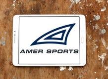 Logotipo da empresa de Amer Sports fotos de stock royalty free