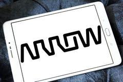 Logotipo da empresa de Arrow Electronics fotos de stock
