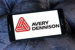 Logotipo da empresa de Avery Dennison Foto de Stock