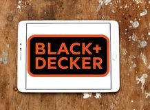 Logotipo da empresa de Black and Decker fotografia de stock