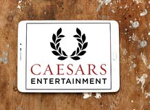 Logotipo da empresa de Caesars Entertainment imagens de stock