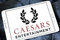 Logotipo da empresa de Caesars Entertainment imagem de stock