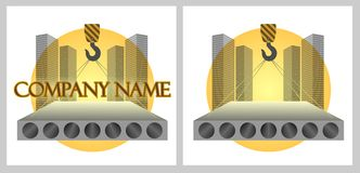Logotipo da empresa de construção civil Imagem de Stock Royalty Free