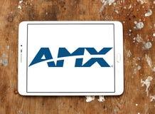 Logotipo da empresa de eletrônica de AMX foto de stock royalty free