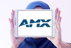 Logotipo da empresa de eletrônica de AMX imagem de stock royalty free