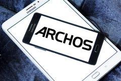 Logotipo da empresa de eletrônica de Archos foto de stock royalty free