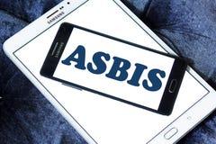 Logotipo da empresa de eletrônica de ASBIS imagens de stock royalty free