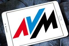 Logotipo da empresa de eletrônica de AVM imagem de stock royalty free