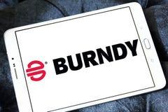 Logotipo da empresa de eletrônica de Burndy foto de stock royalty free