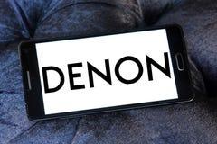 Logotipo da empresa de eletrônica de Denon imagens de stock royalty free