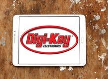 Logotipo da empresa de eletrônica da Digi-chave imagens de stock