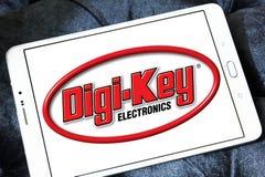 Logotipo da empresa de eletrônica da Digi-chave fotos de stock