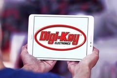 Logotipo da empresa de eletrônica da Digi-chave fotografia de stock royalty free