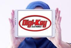 Logotipo da empresa de eletrônica da Digi-chave imagem de stock royalty free